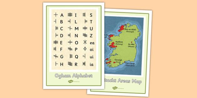 The Irish Language Decline and Revival Display Posters - Irish language, decline and revival, conradh na gaeilge, gaeltacht, history, display poster