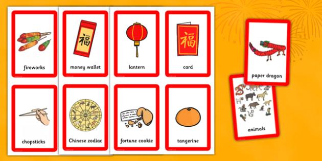 Chinese New Year Pairs Matching Game - chinese new year, matching