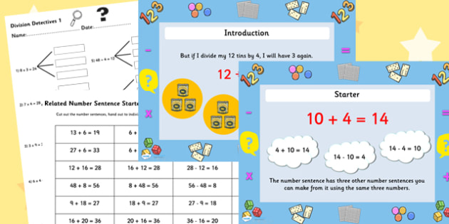 Year 3 Deriving Multiplication and Division Facts Task Setter – Multiplication and Division Facts Worksheet