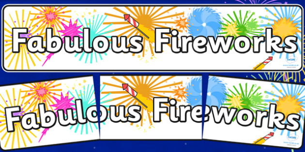 Fabulous Fireworks Display Banner - fireworks, bonfire, new year