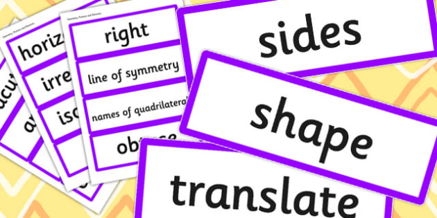 Year 4 2014 Curriculum Maths Vocabulary Cards Geometry Position