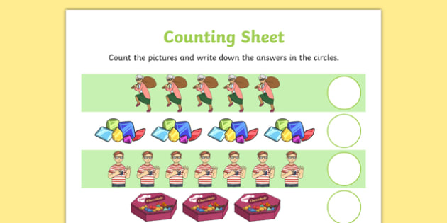 Criminal Granny Counting Sheet - gangsta granny, criminal granny, david walliams, counting, numeracy, literacy, EYFS, KS1
