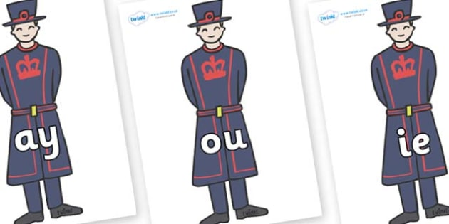 Phase 5 Phonemes on Beefeaters - Phonemes, phoneme, Phase 5, Phase five, Foundation, Literacy, Letters and Sounds, DfES, display