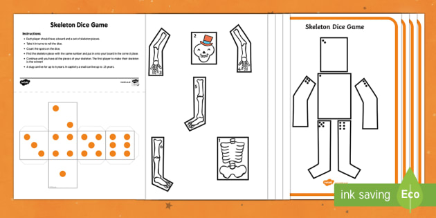 Skeleton Dice Game Resource Pack