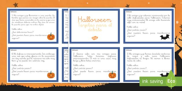 Halloween Tarjetas informativas-Spanish
