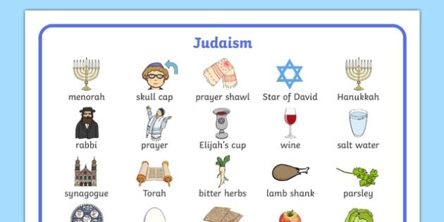 Judaism Word Mat - Religion, faith, word mat, writing aid, synagogue, hannukah, jew, jewish, God, RE, rabbai, judiasm
