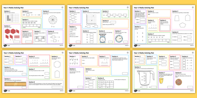 Year 4 Autumn 1 Maths Activity Mats