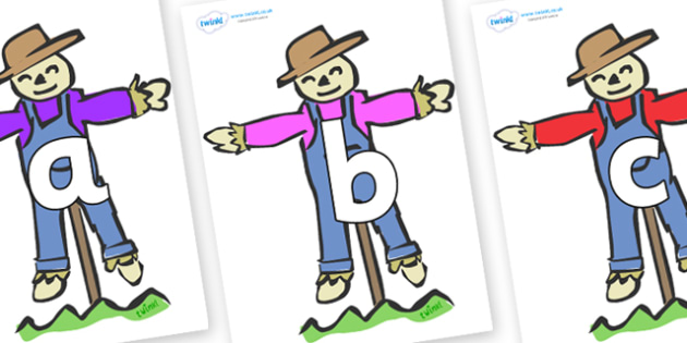Phoneme Set on Scarecrows - Phoneme set, phonemes, phoneme, Letters and Sounds, DfES, display, Phase 1, Phase 2, Phase 3, Phase 5, Foundation, Literacy