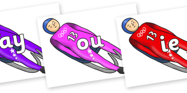 Phase 5 Phonemes on Luge - Phonemes, phoneme, Phase 5, Phase five, Foundation, Literacy, Letters and Sounds, DfES, display