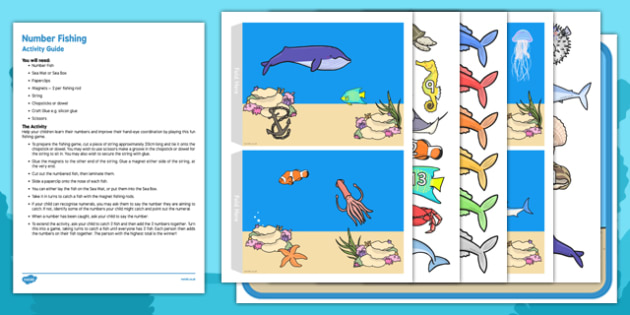 Number Fishing Busy Bag Resource Pack for Parents