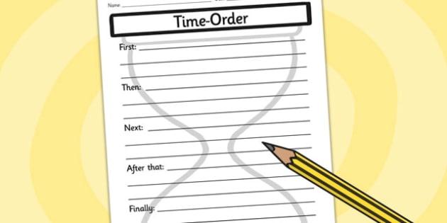 Time Order Writing Frames - time, order, writing, writing frame