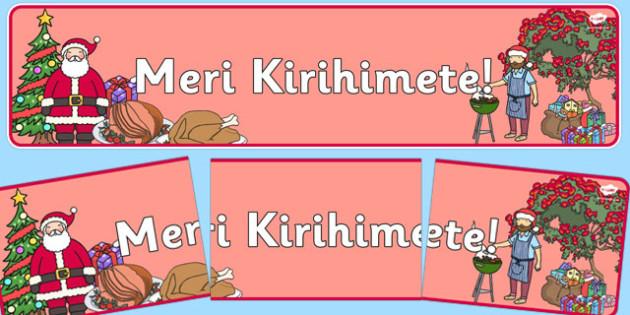 Meri Kirihimete Display Banner - nz, new zealand, meri kirihimete, display banner