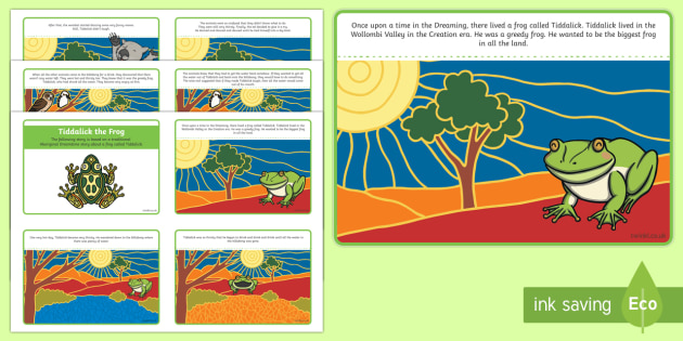 Tiddalick the Frog Story Sequencing Cards-Australia