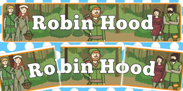 Robin Hood Display Banner - Robin Hood, Nottingham, forest, Sherwood forest, Loxley, Sherrif, display, banner, sign, poster