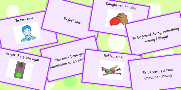 Colour Idioms Matching Cards - match, card, colours, activity