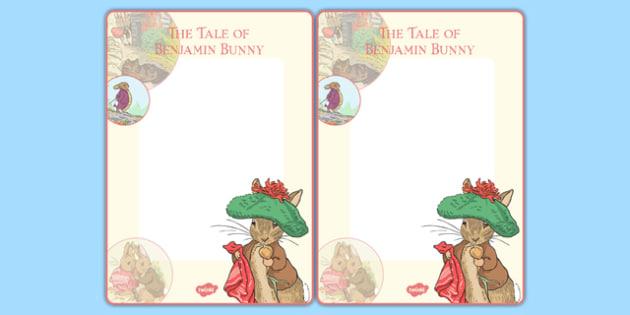 Beatrix Potter - The Tale of Benjamin Bunny Editable Note - beatrix potter, benjamin bunny