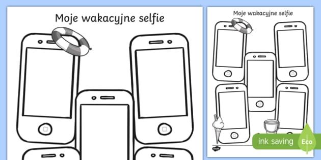 Karta Moje wakacyjne selfie po polsku