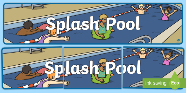 Splash Pool Display Banner - SEN Resources, Special Educational Needs, Display Banner, Splash Pool, Special School, Swimming Pool