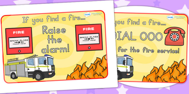 Fire Safety Posters - fire station role play, props, safe, safety