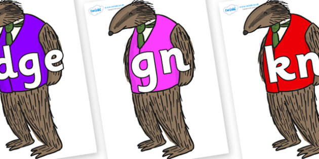 Silent Letters on Badger to Support Teaching on Fantastic Mr Fox - Silent Letters, silent letter, letter blend, consonant, consonants, digraph, trigraph, A-Z letters, literacy, alphabet, letters, alternative sounds