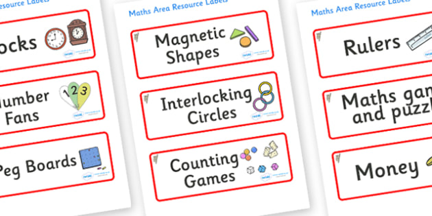 Koala Themed Editable Maths Area Resource Labels - Themed maths resource labels, maths area resources, Label template, Resource Label, Name Labels, Editable Labels, Drawer Labels, KS1 Labels, Foundation Labels, Foundation Stage Labels, Teaching Label