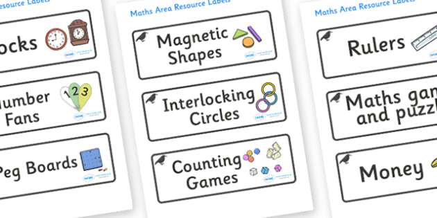 Raven Themed Editable Maths Area Resource Labels - Themed maths resource labels, maths area resources, Label template, Resource Label, Name Labels, Editable Labels, Drawer Labels, KS1 Labels, Foundation Labels, Foundation Stage Labels, Teaching Label