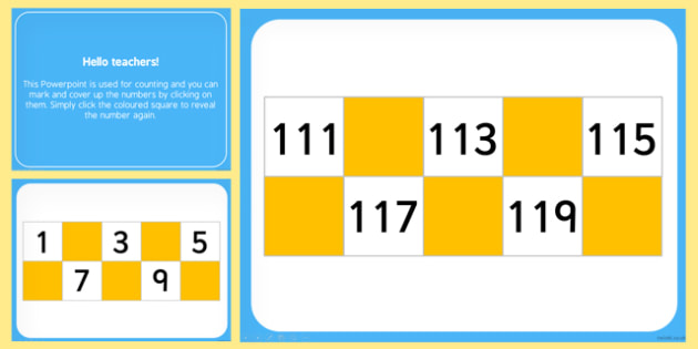 1-120 Counting and Marking Numbers PowerPoint - counting, numbers