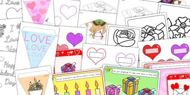 Childminder Valentine's Day Resource Pack - australia, valentines