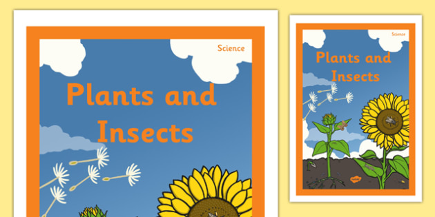 Plants and Insects Book Cover - plants and insects, book cover, book, cover, plants, insects