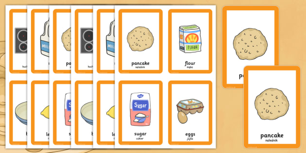 Pancake Day Pairs Matching Game Polish Translation - Polish, activity, activities, match