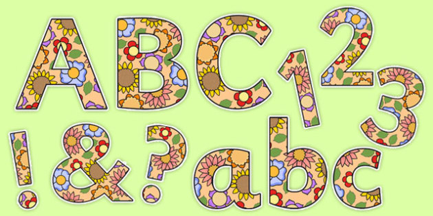 Flowers Display Letters and Numbers - plants, flower, lettering, topic, science, growth