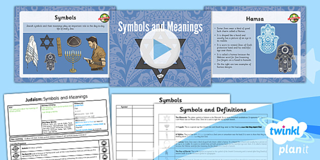 PlanIt - RE Year 3 - Judaism Lesson 6: Symbols and Meanings Lesson Pack - jew, jewish, Star of David, Menorah, Torah