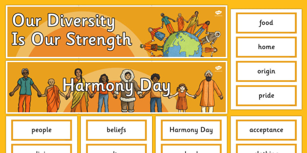 Harmony Day Word Wall Pack - Harmony Day, cultural, diversity, word wall