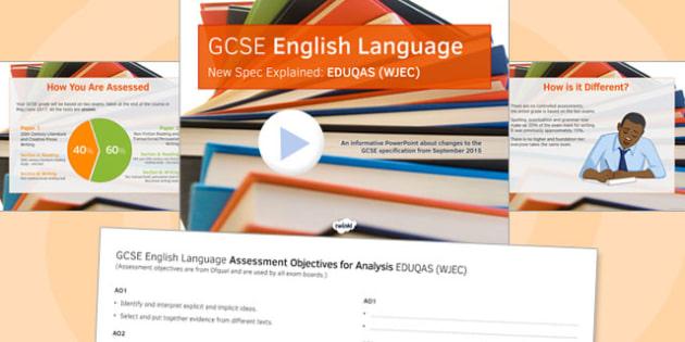 GCSE English Language New Spec Explained EDUQAS - gcse, new spec, eduqas