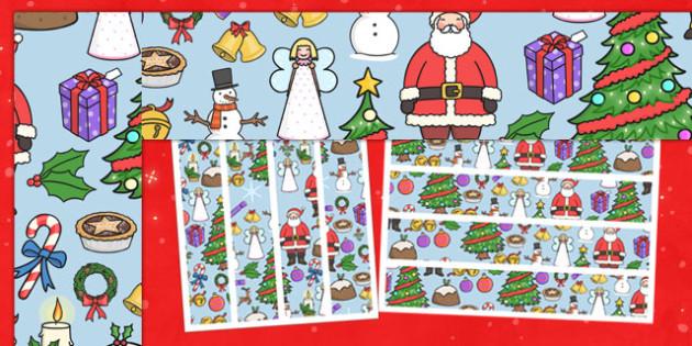 Christmas Themed Display Border - christmas, themed, display border, display, border
