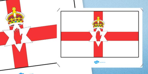 Northern Ireland Flag Display Poster - northern ireland flag, northern ireland, flag, display poster