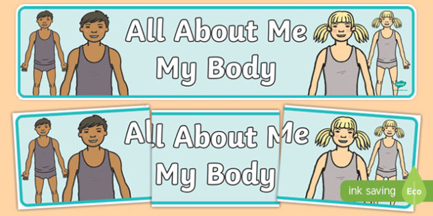 All About Me: My Body Display Banner