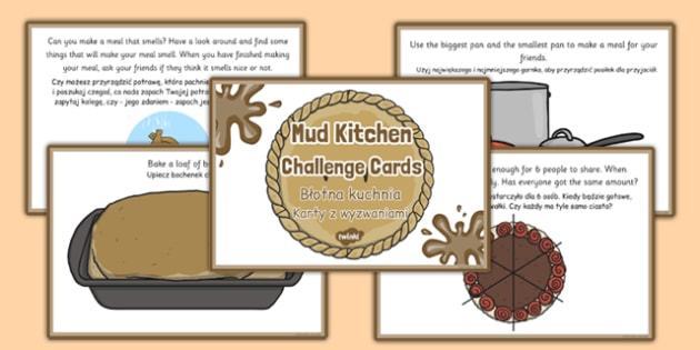 Mud Pie Kitchen Role Play Challenge Cards Polish Translation - polish, mud pie kitchen, role-play