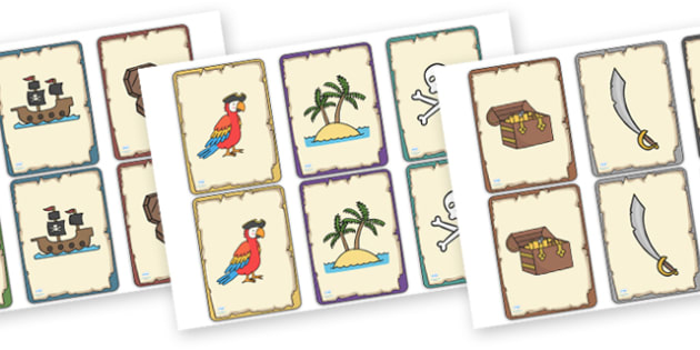 Pirate Themed Snap Cards - snap, snap cards, pirates, pirate snap, pirate snap cards, pirate games, pirate activities, pirate playing cards, matching cards