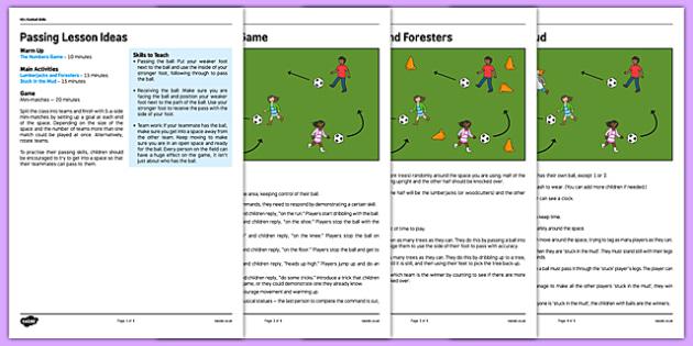 KS1 Football Skills 2 Passing Lesson Pack - football, PE, sport, exercise, KS1, year 1, year 2, skills, physical education, ball skills, team sports