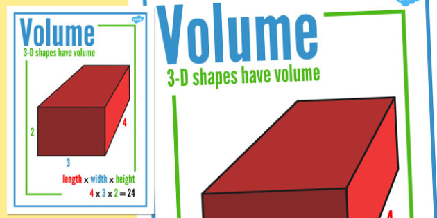 Volume Display Poster - volume, display, poster, display poster, maths