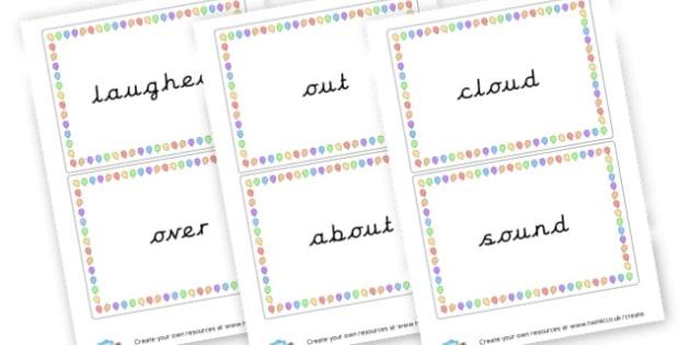 Alternative 'ou' words - Sound Families Primary Resources, sound, sounds, sound family