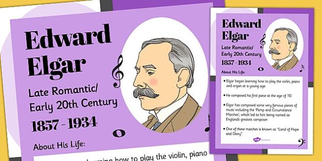 Edward Elgar Display Poster - edward elgar, display, poster