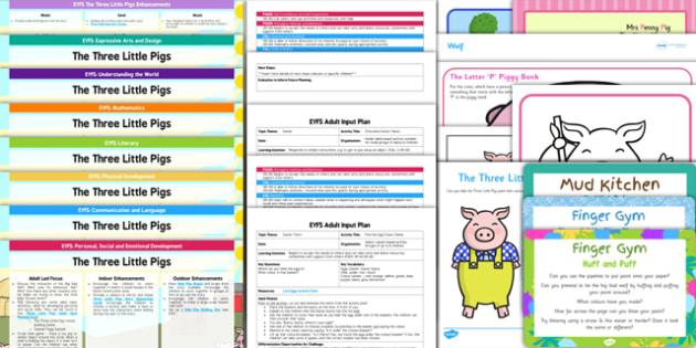 EYFS The Three Little Pigs Bumper Planning Pack-Australia