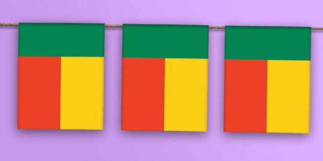 Benin Flag Bunting - benin flag, benin, flag, display bunting, display, bunting