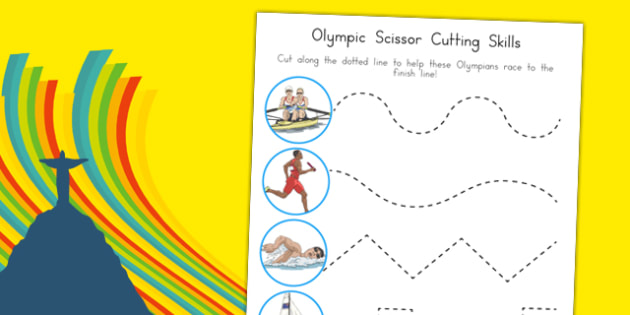 Olympic Cutting Skills Activity Sheet Cutting Skills Activity Sheet, worksheet