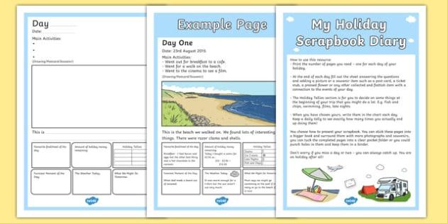 Holiday Scrapbook Diary - holiday, scrapbook, diary, scrap book, book