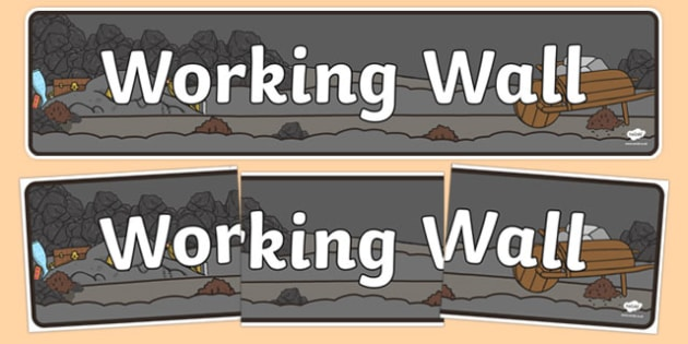 Working Wall Coal Mine Themed Display Banner - header, display