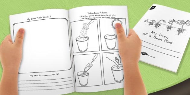 My Diary of a Bean Plant - australia, diary, bean plant, bean