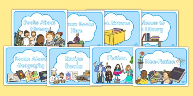 Library School Display Signs- library, school sign, library sign, display signs, library display signs, school display signs, signs for display, classroom